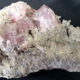 Fluorite, Rhodochrosite, Ferberite, Quartz<br />Yaogangxian Mine, Yizhang, Chenzhou Prefecture, Hunan Province, China<br />10 x 7 x 4 cm<br /> (Author: Volkmar Stingl)