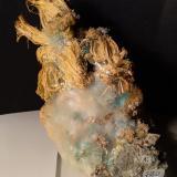Chalcantite, Pickeringite, Halotrichite<br />Fenice Capanne Mine, Massa Marittima, Grosseto Province, Tuscany, Italy<br />16,5 x 10 cm<br /> (Author: Sante Celiberti)