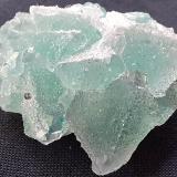 Fluorite, Pyrite<br />Baimashan tunnel (construction site), Qianbaxia, Wuyishan, Nanping Prefecture, Fujian Province, China<br />3 x 2,5 cm<br /> (Author: Volkmar Stingl)