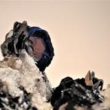 Hematite<br />Les Courtes, Bassin du Talèfre, Mont Blanc Massif, Chamonix, Haute-Savoie, Auvergne-Rhône-Alpes, France<br />30mm * 20mm *20mm<br /> (Author: Philippe Durand)