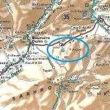 """Modificado del mapa de carreteras de la Guía Michelín, """"Marruecos"""", escala 1:1000000, mapade carreteras y turístico con la situación de Imiter y sus minas. (Autor: Carles)"""
