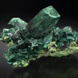Malachite after Azurite with Bayldonite and Cerussite<br />Tsumeb Mine, Tsumeb, Otjikoto Region, Namibia<br />86 mm<br /> (Author: Gail)