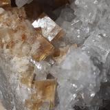 Fluorite, Calcite<br />Orismühle Quarry, Seltisberg, Liestal District, Basel-Landschaft, Switzerland<br />8 x 4 cm<br /> (Author: Volkmar Stingl)