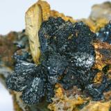 Olivenite and Quartz<br />Cornwall, England / United Kingdom<br /><br /> (Author: Jordi Fabre)