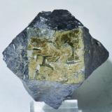 Galena with Pyrite<br />Weardale, North Pennines Orefield, County Durham, England / United Kingdom<br />Specimen size: 5.2 × 4 × 3.8 cm / main crystal size: 4.4 × 3.2 cm<br /> (Author: Jordi Fabre)