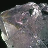 Fluorite, Baryte<br />Jaimina Mine, Obdulia vein, Caravia mining area, Trechorio, Carrales, Caravia, Comarca Oriente, Asturias, Principality of Asturias, Spain<br />Crystal is 2 cm x 3cm<br /> (Author: James Catmur)