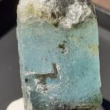 Beryl (variety Aquamarine)<br />Sedl, Habach Valley, Hohe Tauern, Salzburg, Austria<br />2,5 x 1,3 cm<br /> (Author: Volkmar Stingl)