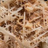Cerussite (twinned)<br />Luis Mine, 88 m.↓ Norte vein, Del General Mines, Cabezarrubias del Puerto, Comarca Valle de Alcudia, Ciudad Real, Castilla-La Mancha, Spain<br />Specimen size: 4.7 × 3.8 × 2.9 cm / main crystal size: 3.5 × 0.6 cm<br /> (Author: Jordi Fabre)