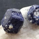 Lazurite on Calcite<br />Sar-e Sang, Koksha Valley, Khash & Kuran Wa Munjan Districts, Badakhshan Province, Afghanistan<br />5,5 x 3,5 cm<br /> (Author: Volkmar Stingl)