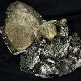 Chalcopyrite with Arsenopyrite, Calcite and Muscovite<br />Minas da Panasqueira, Aldeia de São Francisco de Assis, Covilhã, Castelo Branco, Cova da Beira, Centro, Portugal<br />11.5x8.5x6.5 cm''s<br /> (Author: Joseph DOliveira)