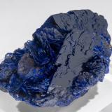 Azurite<br />Chessy-les-Mines, Les Bois d'Oingt, Villefranche-sur-Saône, Rhône, Auvergne-Rhône-Alpes, France<br /><br /> (Author: Jordi Fabre)