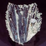 Hübnerite with Fluorite and Quartz<br />Huayllapon Mine (Huallapon Mine), Pasto Bueno District, Pallasca Province, Ancash Department, Peru<br />Specimen size: 9.8 × 8 × 7 cm / main crystal of Fluorite: 0.8 × 0.8 cm<br /> (Author: Jordi Fabre)