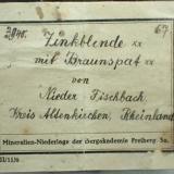 Calcite on Ankerite on Sphalerite<br />Niederfischbach, Altenkirchen (Westerwald), Siegerland, Rhineland-Palatinate/Rheinland-Pfalz, Germany<br />Specimen size 15 cm<br /> (Author: Tobi)