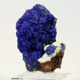 Azurite<br />Christiana Mine, Kamariza Mines, Agios Konstantinos, Lavrion Mining District, Attikí (Attica) Prefecture, Greece<br />7.1 x 5.5 x 2.1 cm<br /> (Author: GneissWare)