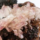 Adamite (variety manganoan)<br />Ojuela Mine, Mapimí, Municipio Mapimí, Durango, Mexico<br />Specimen size: 10 × 8.2 × 5.7 cm / main crystal size: 1.5 × 1 cm<br /> (Author: Jordi Fabre)