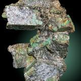 Berilo (variedad esmeralda)<br />Yacimiento de Esmeraldas, A Franqueira, A Cañiza, Comarca Paradanta, Pontevedra, Galicia, España<br />20.6x13.4 cm<br /> (Autor: Sergio)