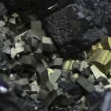 Sphalerite, Arsenopyrite, Pyrite<br />Noche Buena Mine, Noche Buena, Municipio Mazapil, Zacatecas, Mexico<br /><br /> (Author: Rob Schnerr)