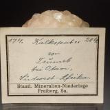 Calcite label<br /><br /><br /> (Author: Michael Shaw)