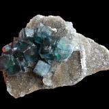 Fluorite<br />China<br />80 mm x 53 mm x 30 mm<br /> (Author: Dany Mabillard)