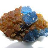 Fluorite, Quartz<br />Moritz II Mine, Sewen, Thann-Guebwiller, Haut-Rhin, Grand Est, France<br />7 x 5 cm<br /> (Author: Jean Suffert)