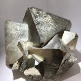 Pyrite<br />Huanzala Mine, Huallanca District, Dos de Mayo Province, Huánuco Department, Peru<br />8 cm edge for two main crystals<br /> (Author: Jean Suffert)