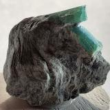 Beryl (variety emerald)<br />Sedl, Habach Valley, Hohe Tauern, Salzburg, Austria<br />2 x 2 cm<br /> (Author: Volkmar Stingl)