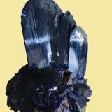 Azurite<br />Touissit mining area, Touissit District, Jerada Province, Oriental Region, Morocco<br />main crystal 5 cm tall, 9 cm for the all piece<br /> (Author: Jean Suffert)