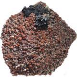 Fluorite and Quartz (variety eisenkiesel)<br />Johannesschacht Mine, Wölsendorf, Schwarzach bei Nabburg, Wölsendorf West District, Upper Palatinate/Oberpfalz, Bavaria/Bayern, Germany<br />55x48x13<br /> (Author: david916)