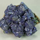 Azurite<br />Czar Mine, Copper Queen Mine, Queen Hill, Bisbee, Warren District, Mule Mountains, Cochise County, Arizona, USA<br />8.0cm x 6.5cm<br /> (Author: rweaver)