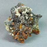 Fornacite with Wulfenite and Cerussite<br />Mammoth-St. Anthony Mine, St. Anthony deposit, Tiger, Mammoth District, Pinal County, Arizona, USA<br />5.0cm x 5.0cm<br /> (Author: rweaver)