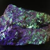 Autunite and Fluorite (variety stink-fluss)<br />Marienschacht Mine, Wölsendorf, Schwarzach bei Nabburg, Wölsendorf West District, Upper Palatinate/Oberpfalz, Bavaria/Bayern, Germany<br />76x54x35mm<br /> (Author: david916)