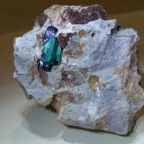 Azurite, Malachite<br />Kerrouchen, Khénifra Province, Beni Mellal-Khenifra Region, Morocco<br />88 x 68 mm<br /> (Author: Sante Celiberti)