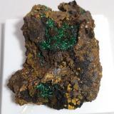 Brochantita<br />Minas de Montealegre, Meredo, Vegadeo, Comarca Eo-Navia, Asturias, Principado de Asturias, España<br />60x45mm<br /> (Autor: joaquin gar)