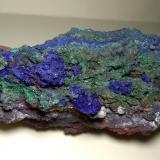 Azurite, Malachite<br />Sa Duchesa Mine, Oridda Valley, Domusnovas, Sud Sardegna Province, Sardinia/Sardegna, Italy<br />12 x 6,5 cm<br /> (Author: Sante Celiberti)