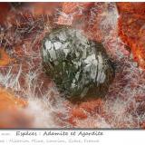 Adamite<br />Hilarion Mine, Hilarion area, Kamariza Mines, Agios Konstantinos, Lavrion Mining District, Attikí (Attica) Prefecture, Greece<br />fov 1.75 mm<br /> (Author: ploum)