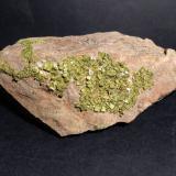 Autunite<br />Saint-Symphorien-de-Marmagne, Montcenis, Autun, Saône-et-Loire, Bourgogne-Franche-Comté, France<br />17,5 x 10 cm<br /> (Author: Sante Celiberti)