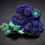 Azurite, Malachite<br />Chizhou Prefecture, Anhui Province, China<br />96 mm x 79 mm x 41 mm<br /> (Author: Don Lum)