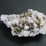 Iridescent pyrite on calcite.jpg (Author: Tracy)