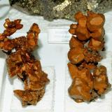 USA mineral classics is where the Folch Collection is very strong. Two excellent 11-13 cm. (4½ - 5 inches) tall native Copper specimens from Michigan. Both the crystal definition and their high quality can be considered exceptional. Really top  specimens. (Author: Joan Rosell)