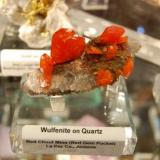 Wulfenite on Quartz Red Gem Pocket Red Cloud Mine, La Paz Co. Arizona (Author: Gail)