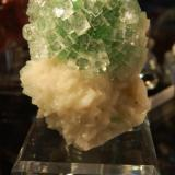 From the front.  Apophyllite on Stilbite Momin Akhada Rahri. Maharashtra. India (Author: Gail)