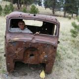 Pete & truck.jpg (Author: Pete Modreski)