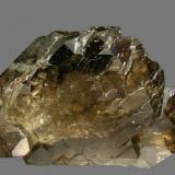 Quartz Gwindel from Argentière Glacier. Specimen size: 11 × 6.8 × 3.7 cm. Mined aproximately on 1985 (Author: Jordi Fabre)
