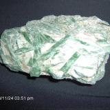 Actinolite on Talc 11cm x 7 cm Lake Wenatchee, Chelan Cty, Washingon, USA (Author: Linda Smith)