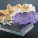 Fluorite and Calcite<br /><br /><br /> (Author: Linda Smith)