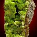Uranocircite on granite matrix, Streuberg, Bergen, Vogtland, Germany. Size is 11 x 5 x 7 cm (Author: Montanpark)