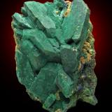 Malachite psm. after Azurite, Tsumeb, Namibia. (Author: Montanpark)