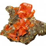 Wulfenite Red Cloud Mine, Silver District, Trigo Mts, La Paz Co., Arizona, USA (Author: Carles Millan)