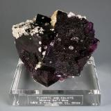 """This is our """"raspberry"""" fluorite..it glows incredibly when lit right. (Author: Gail)"""