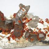 Spessartine, quartz Lechang Mine, Lechang, Shaoguan, Guangdong, China 125 mm x 68 mm (Author: Carles Millan)